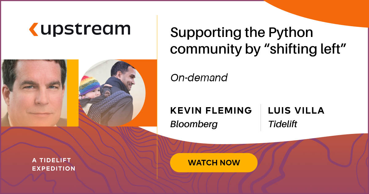 Supporting the Python community by