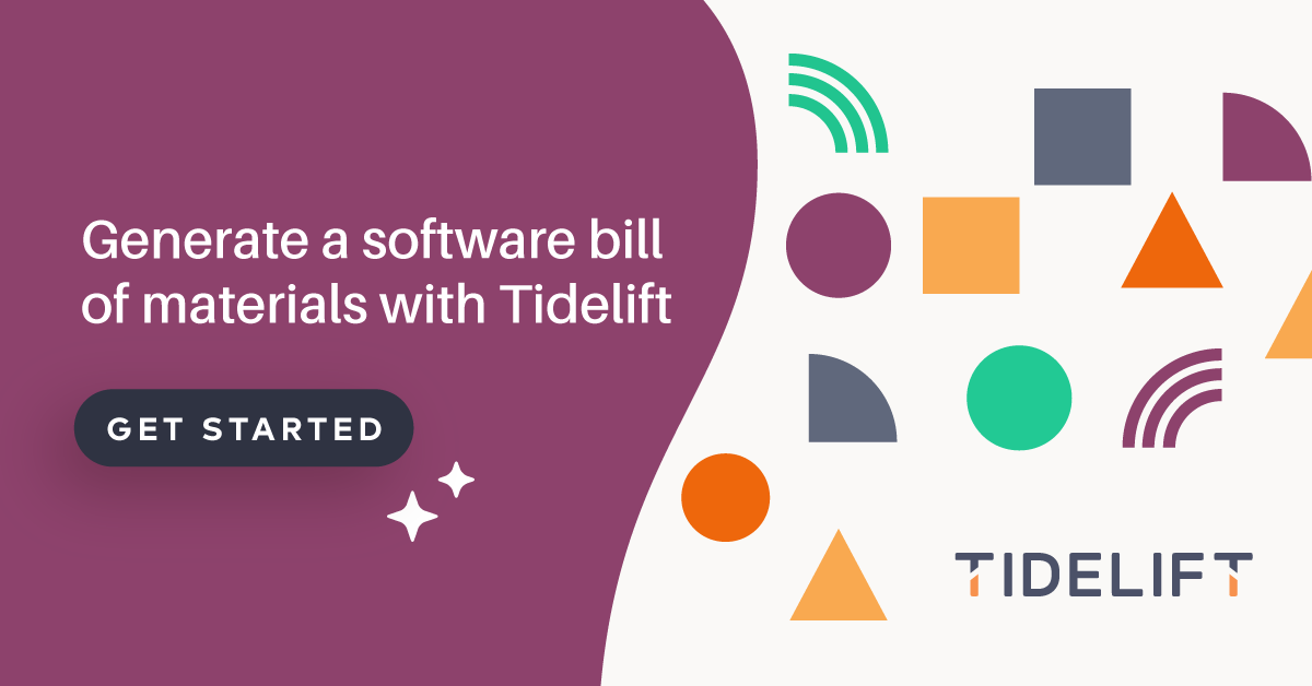 Generate a software bill of materials with Tidelift